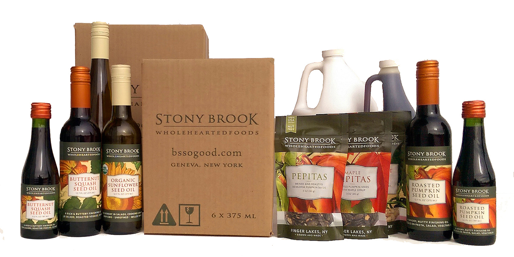 Stony Brook oils and seeds - bulk and case discounts